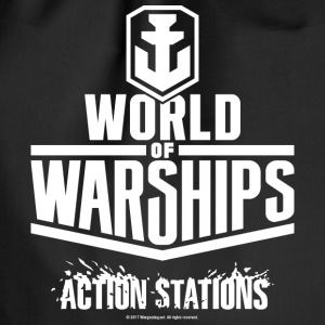 World of Warships White Logo Collection - Gym Bag - Worek gimnastyczny