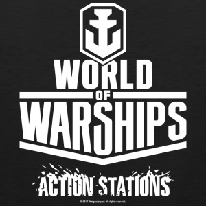 World of Warships White Logo Collection - Men's Ta - Men's Premium Tank Top