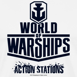 World of Warships Black Logo Collection - Men's T- - T-shirt Premium Homme