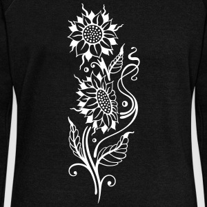 Sunflowers, beautiful summer motif Hoodies & Sweatshirts - Women's Boat Neck Long Sleeve Top