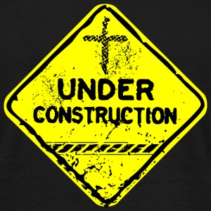 under construction church fr Tee shirts - T-shirt Homme