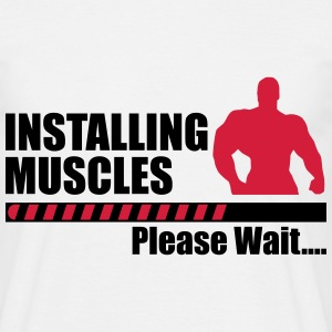 Installing muscles : Gym Body building Fitness  - Men's T-Shirt
