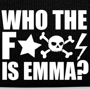 who the fuck is emma? MDMA XTC Teile Rave Sprüche Caps & Mützen - Wintermütze