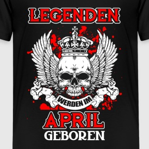 April - legend - fødselsdag - DE T-shirts - Teenager premium T-shirt