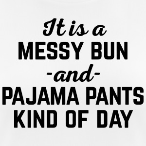 Messy Bun Day Funny Quote T-shirts - Dame T-shirt svedtransporterende