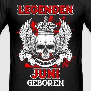 Juni - legend - fødselsdag - DE T-shirts - Herre Slim Fit T-Shirt