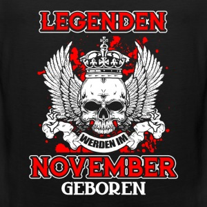November - legenden - bursdag - DE Sportsklær - Premium singlet for menn