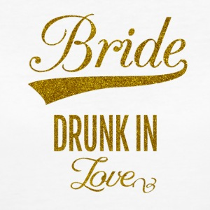 bride_drunk_in_love_orig T-Shirts - Women's Organic T-shirt