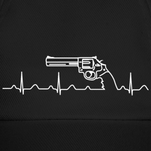 Kappe, Smith Wesson Revolver, Heartbeat, weiß - Baseballkappe