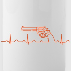 Flasche, Smith Wesson Revolver, Heartbeat, orange - Trinkflasche