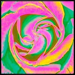 Psychedelic Rose - Full Colour Mug