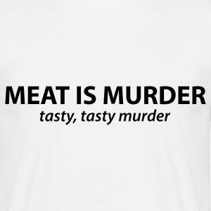 Vit Meat is murder T-shirts - T-shirt herr
