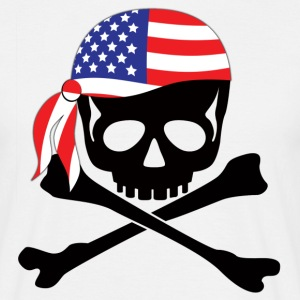 White American Flag Bandana Pirate Men's T-Shirts - Men's T-Shirt