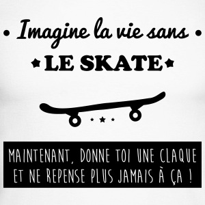 Le skate , skateboard,skate-board,skater Manches longues - T-shirt baseball manches longues Homme