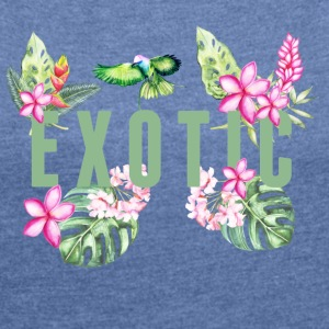 Exotic T-Shirts - Women's T-shirt with rolled up sleeves