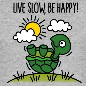 Live slow, be happy! T-shirts - Herre Slim Fit T-Shirt