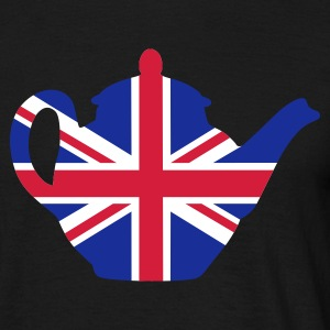 Black British teapot 3clr Men's T-Shirts - Men's T-Shirt