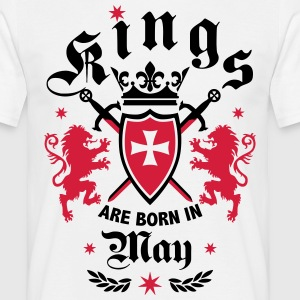 Kings are born May Lions Cross King Crown T-Shirt - Männer T-Shirt