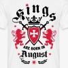 Kings are born August Lions Cross King 01 T-Shirt - Männer T-Shirt