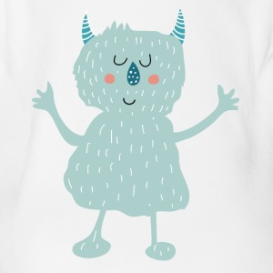 Monster Baby Bodysuits - Organic Short-sleeved Baby Bodysuit
