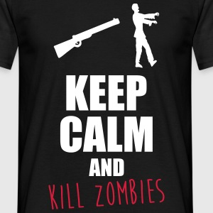 Keep calm and kill zombie T-Shirts - Männer T-Shirt