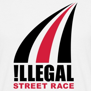Blanc illegalstreetrace T-shirts - T-shirt Homme