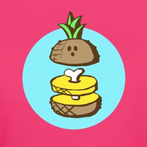 Ananas to the bone Magliette - T-shirt ecologica da donna