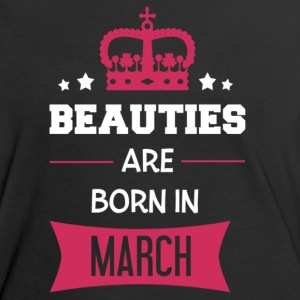 Beauties are born in March T-Shirts - Women's Ringer T-Shirt