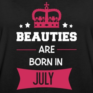 Beauties are born in July T-shirts - Dame oversize T-shirt