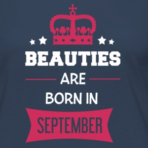 Beauties are born in September Manches longues - T-shirt manches longues Premium Femme
