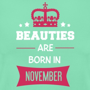 Beauties are born in November T-shirts - Dame-T-shirt