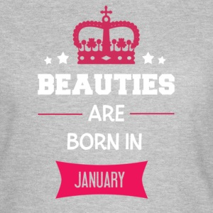 Beauties are born in January T-shirts - Dame-T-shirt