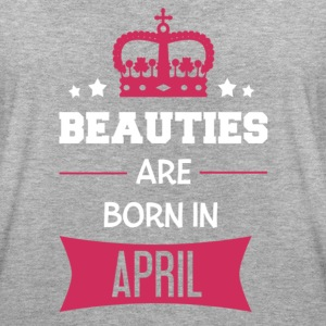 Beauties are born in April T-shirts - Dame oversize T-shirt