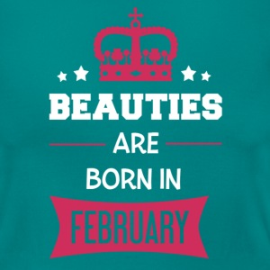Beauties are born in February T-shirts - Dame-T-shirt