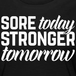 Stronger Tomorrow Gym Quote Manches longues - T-shirt manches longues Premium Femme