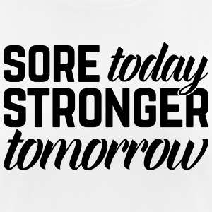 Stronger Tomorrow Gym Quote T-shirts - Andningsaktiv T-shirt dam