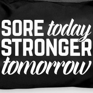 Stronger Tomorrow Gym Quote Bags & Backpacks - Duffel Bag