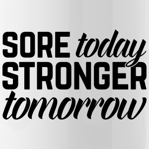 Stronger Tomorrow Gym Quote Bouteilles et Tasses - Gourde