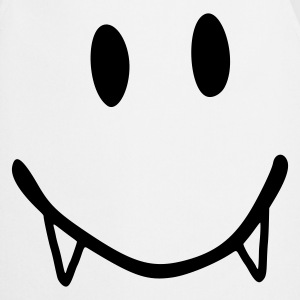White smiley vampire  Aprons - Cooking Apron