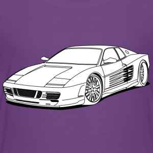 cool car white Shirts - Teenage Premium T-Shirt