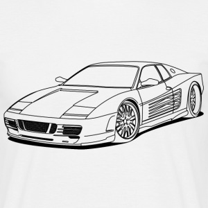 cool car outlines Tee shirts - T-shirt Homme