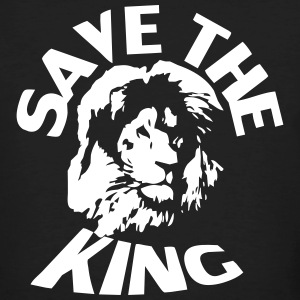 Save The King (Löwe) - Männer Bio-T-Shirt
