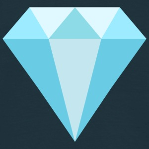 Diamant blau Logo Symbol Diamond blue Icon T-Shirts - Männer T-Shirt