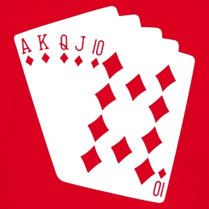 Rød poker T-shirts - Herre-T-shirt