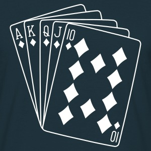 Navy poker Men's T-Shirts - Men's T-Shirt
