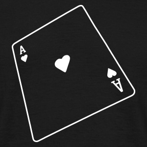 Sort poker T-shirts - Herre-T-shirt
