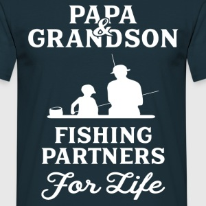 Papa And Grandson Fishing Partners For Life T-Shirts - Men's T-Shirt