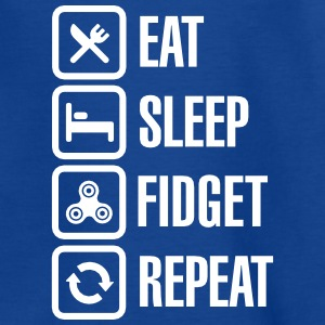 Eat Sleep Fidget Repeat - Fidget Spinner T-shirts - T-shirt barn