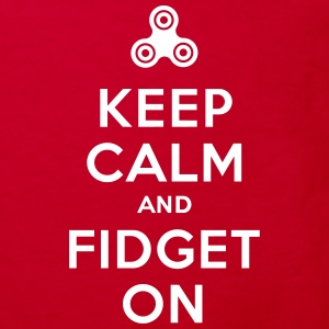 Keep calm and fidget on - Fidget Spinner Skjorter - Økologisk T-skjorte for barn