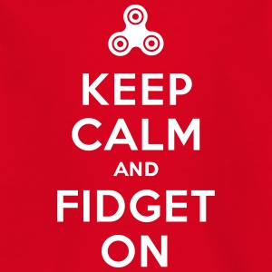 Keep calm and fidget on - Fidget Spinner T-shirts - T-shirt tonåring
